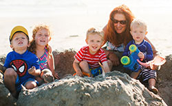 Debbie Day with her grandchildren